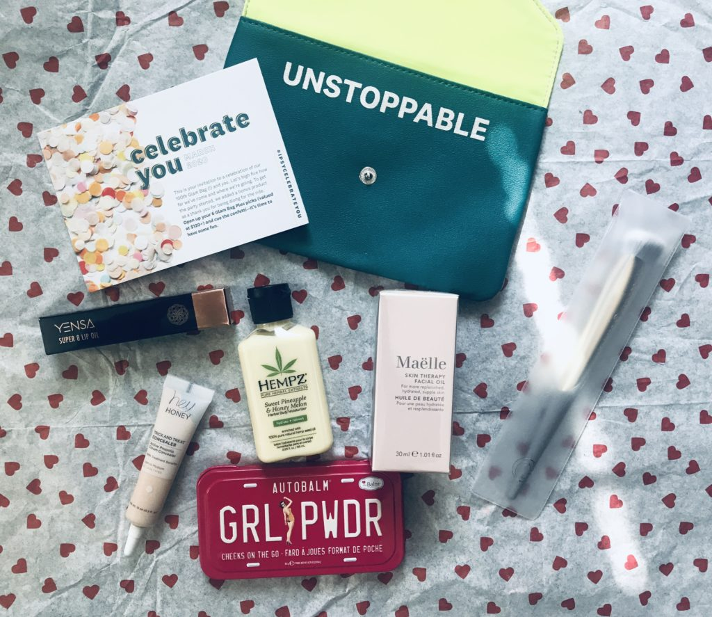 """Ipsy Plus """"Celebrate You"""" for March 2020 Plus A Couple of Mini Extras – Never Say Die Beauty"""
