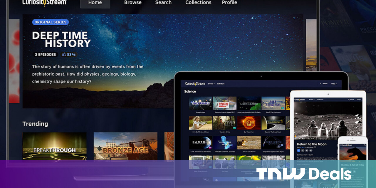 Watch 1000's of hours of smart docs and shows with a lifetime of CuriosityStream HD