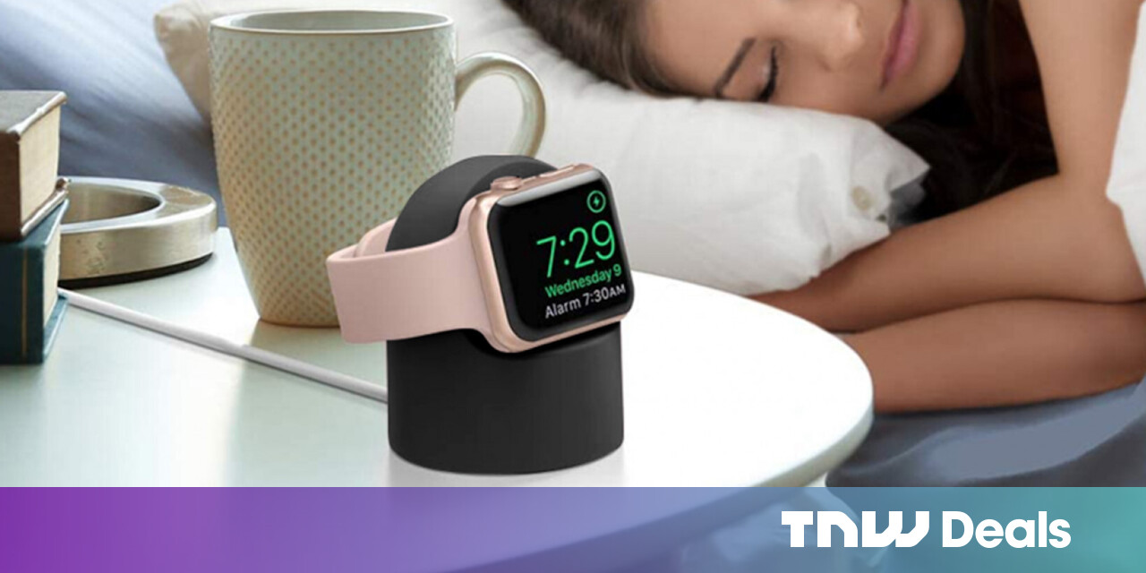 Here's a simple Apple Watch charging stand that keeps your watch powered up — and looks good doing it