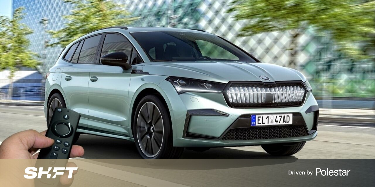 Skoda launches a virtual showroom on Amazon Fire for its first EV